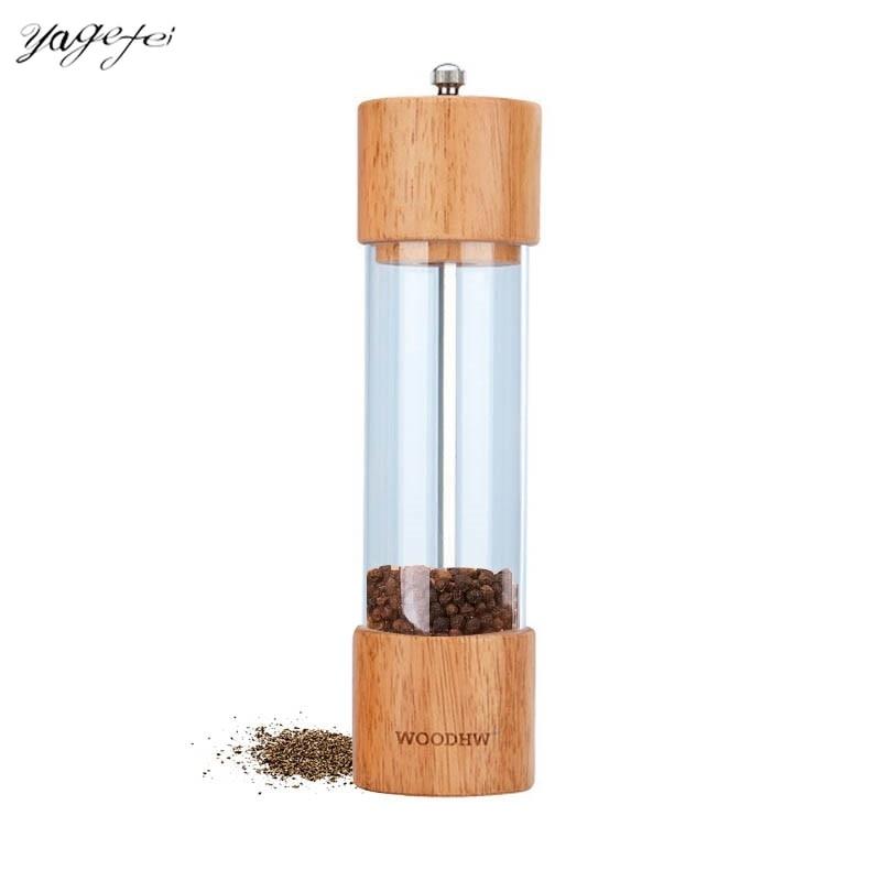 New Arrival Pepper Grinder Manual Salt and Pepper Shaker Seasoning Pot Spice Salt Sugar Mill Kitchen Herb Spice Tools 1piece
