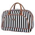 Women Travel Bags Waterproof 2016 Fashion Stripe Luggage Packing Cubes Bag PU Foldable Weekender Leather Travel Bag X042
