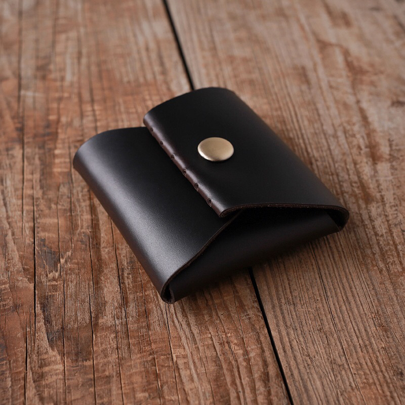 100% Handmade Genuine Leather Hasp Coin Purses Credit Card Case Slim Card Case Small Pocket Bag Cowhide Coin purse Can wholesale