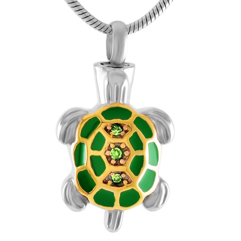 CMJ8340 NEW Sea Turtle მრავალ ფერადი ფერფლის გულსაკიდი გულსაკიდი უჟანგავი ფოლადის კრემისფერი შარდის ყელსაბამი ბავშვებისთვის ქალთა მამაკაცებისთვის ინახავს urns