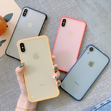 Candy color Frameless phone Case for iphone X case for iphone XR XS Max 7 8 6 6s Plus Transparent hard case back cover uslion ultra slim matte frameless phone case for iphone 11 pro max xs max xr x 6 6s 7 8 plus candy color hard pc back cover