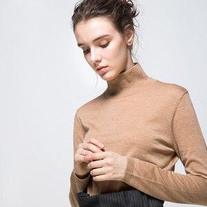 Image 5 - Vrouwen Wol Trui 100% Wollen Trui Voor Vrouwen Coltrui Platte Knits 2019 Fall Winter Dieptepunt Truien