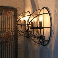 Scone Wandleuchten E14 überzogene Loft amerikanischen Retro Vintage Eisen Wandleuchte 90 V-240 V 40 Watt antike Lampe Industrie