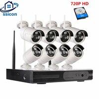 SSICON 720 P HD Беспроводной CCTV Системы 8CH HD Wi Fi NVR комплект Открытый ИК Ночное видение IP Wi Fi Камера безопасности Системы комплект видеонаблюдения