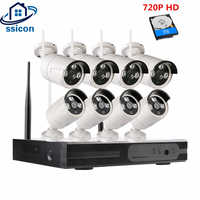 SSICON 720P HD Wireless CCTV System 8CH HD wi-fi NVR kit Outdoor IR Night Vision IP Wifi Camera Security System Surveillance Kit