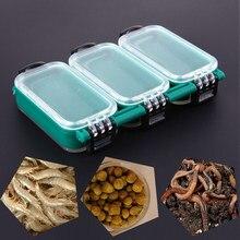 Boîte de matériel de pêche en plastique 6 compartiments, appât Double face mallette de rangement avec hameçon, accessoires de pêche