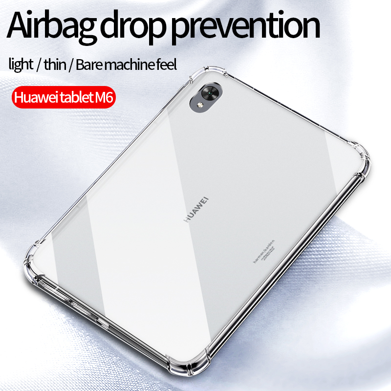 Case For huawei mediapad m6 10.8 /m6 8.4/ m6 lite 8 inch TPU Clear Transparent Case Silicon Soft TPU Transparent Protect Cover