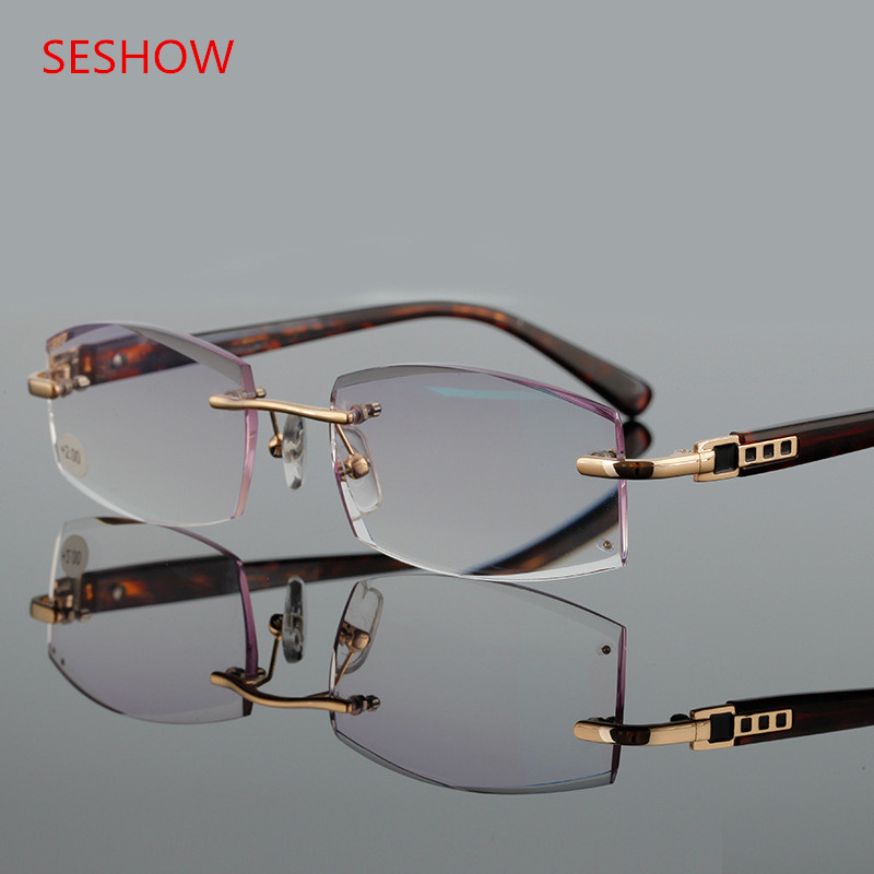 Kakovostno diamantno rezanje moškega in ženske očala, ki bere - Oblačilni dodatki