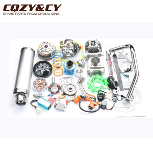 Image 5 - 52mm 105cc Big Bore Performance Kit GY6 50cc 139QMB Chinese Scooter Parts & 6 color muffler