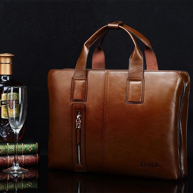 New Arrival 2016 genuine leather bag male briefcase portfolio,brand designers business handbag shoulder bag men messenger bags