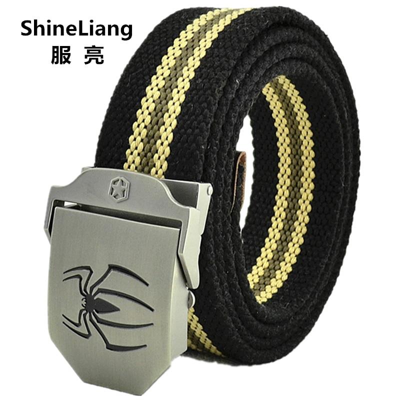 Taktični pasovi za moške Spider logotip spona Vojaško platno Širina 3,8 cm Debelina 4MM Dolžina 110/140 / 160CM Oblikovalci visoke kakovosti