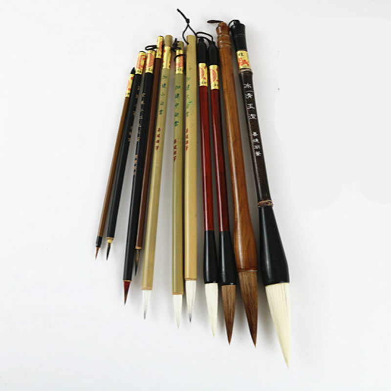 Traditional Chinese Painting Brush Set Soft Woolen Hair Chinese Calligraphy Brushes Ink Painting Hook Line Pen Painting Supplies