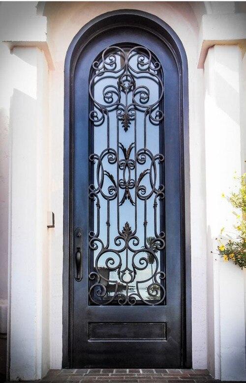 Custom 38 x96wrought iron doors front doors iron entry doors hench-d4