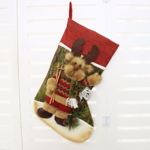 2018 Christmas Stocking Gift Candy Bag Xmas Tree Decorations Big Stockings Gift For Kids Christmas Decorations For Home Supplies
