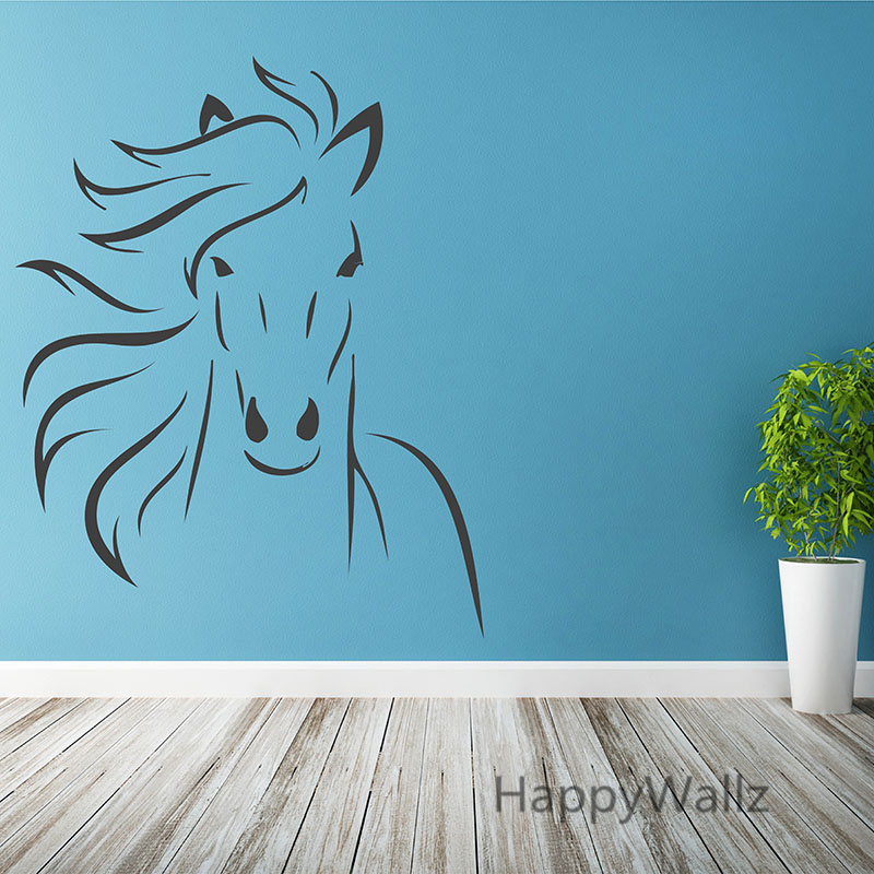 Us 11 4 5 Off Horse Wall Stickers Modern Decal Diy Decorative Decors Wallpaper Easy Art A20 In From