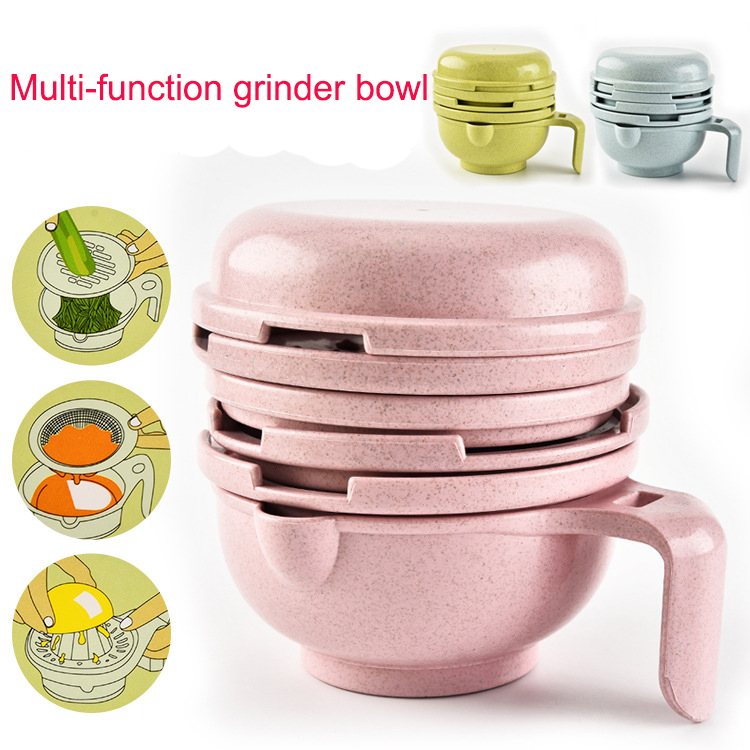BEEMSK 1PCS grinding bowl food grinder fruits squeezer Filter bowls Multi-function grinder
