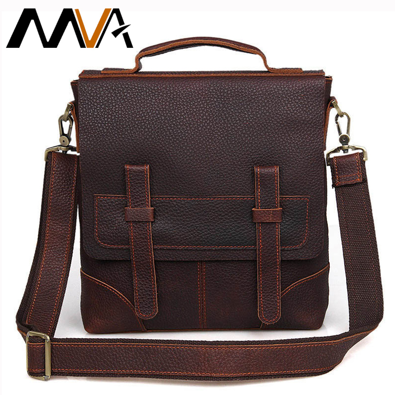 MVA Vintage Crossbody Bags for Men Shoulder Bags Travel Messenger Bags Genuine Leather Men Bag Casual Men's Leather Handbags