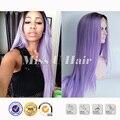 Ломбер черный парик длинные синтетические фиолетовый парик прямо стиль фиолетовый передний парик