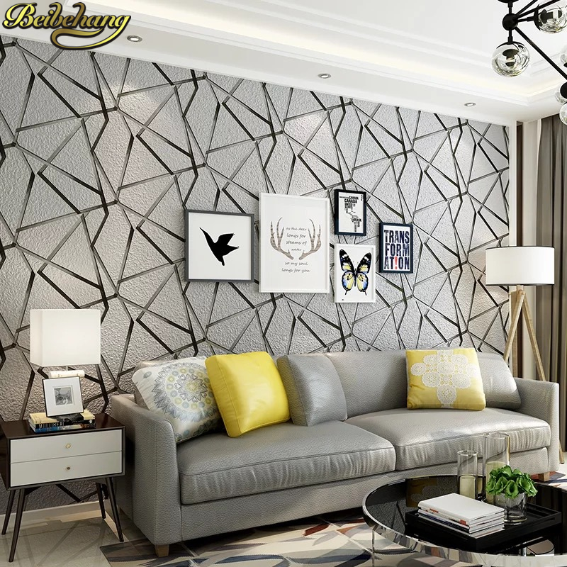 beibehang Nordic black white modern geometric wallpapers for living room decoration TV background wall paper home