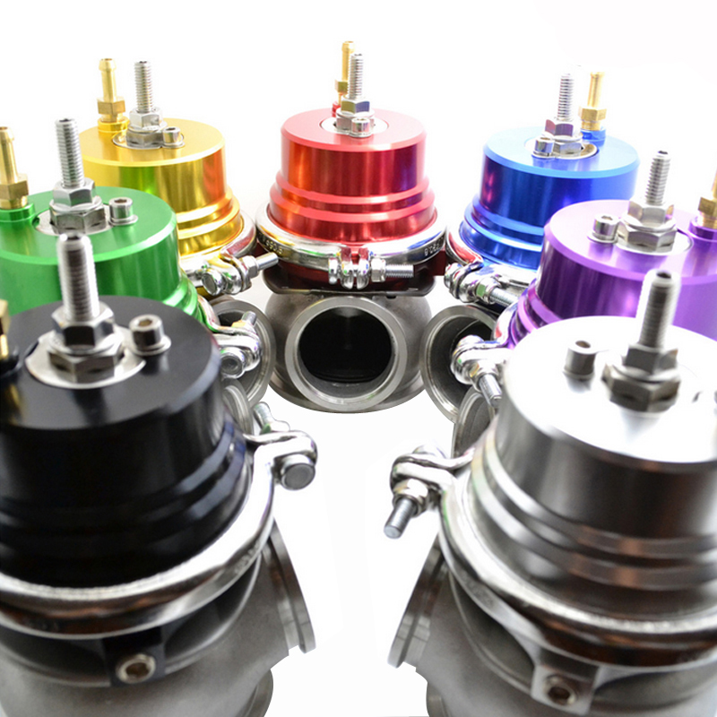60mm Wastegate Turbo Kit Con V-band Flangia e Morsetto Esterno 6 Colori Universale Turbo Esterna Waste Gate per Turbo Collettore