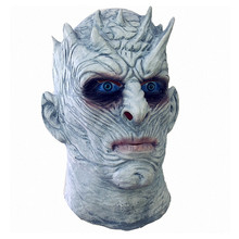 Nights King Game of Thrones HBO Zombies Latex Mask Hood Halloween Party