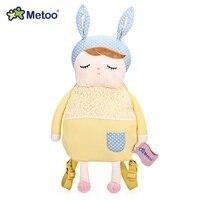 Metoo שקיות תינוק ילדי תרמילי קטיפה פנדה תיק כתף ילדי צעצוע בובת קריקטורה בעלי חיים ארנב אנג 'לה לגן ילדים בנות