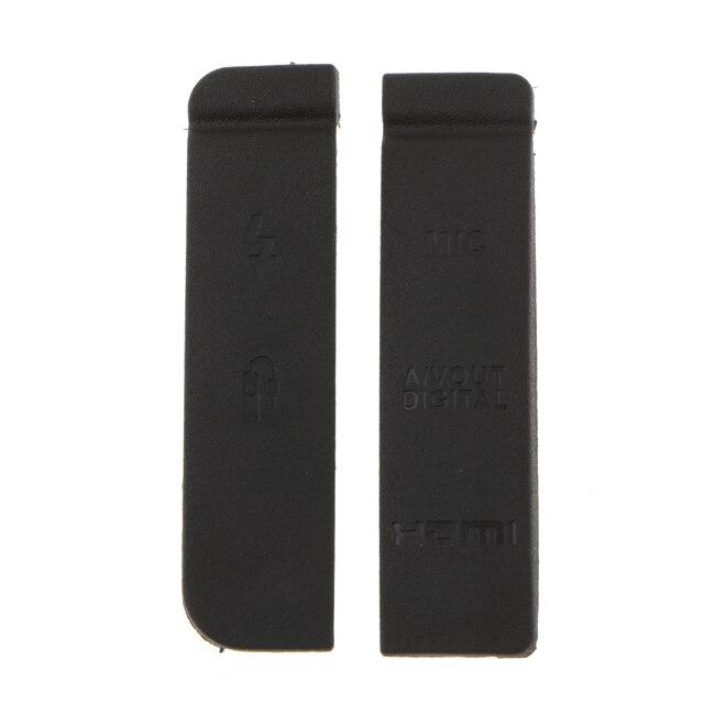 2x Interface Cover Voor Canon Eos 7D Rubber Cap Digitale Camera Reparatie Onderdelen Beschermende Deur Deksel Vervangen Usb/Av out/Hdmi/Mic