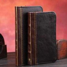 Винтаж Бумажник Книга чехол для iPhone 7 6 6 S плюс высокое качество Ретро Чехол с слот для карты держатель карман