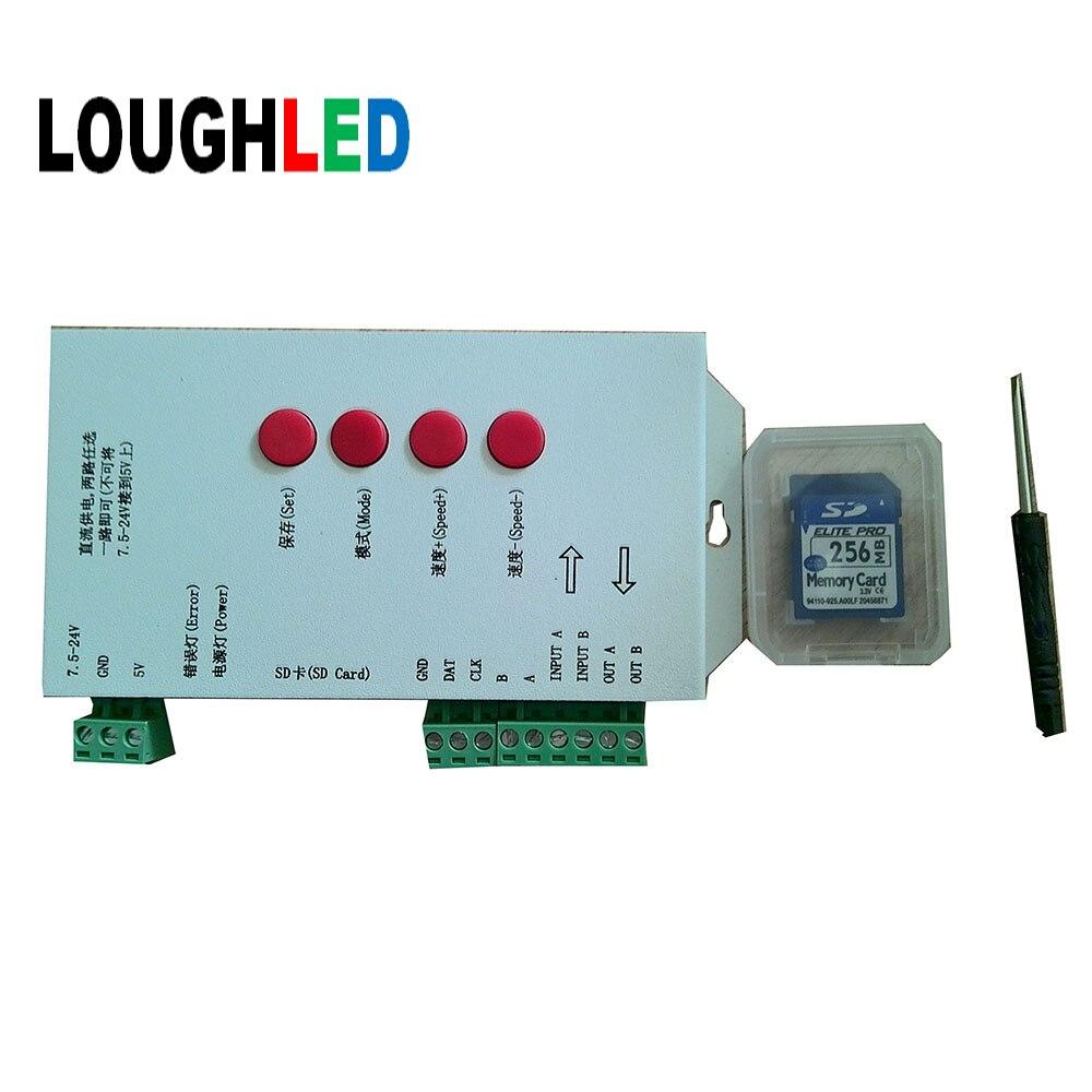 T-1000 SD Card LED Controller for full color LED Lightings IC 6803  2811 1903 ...