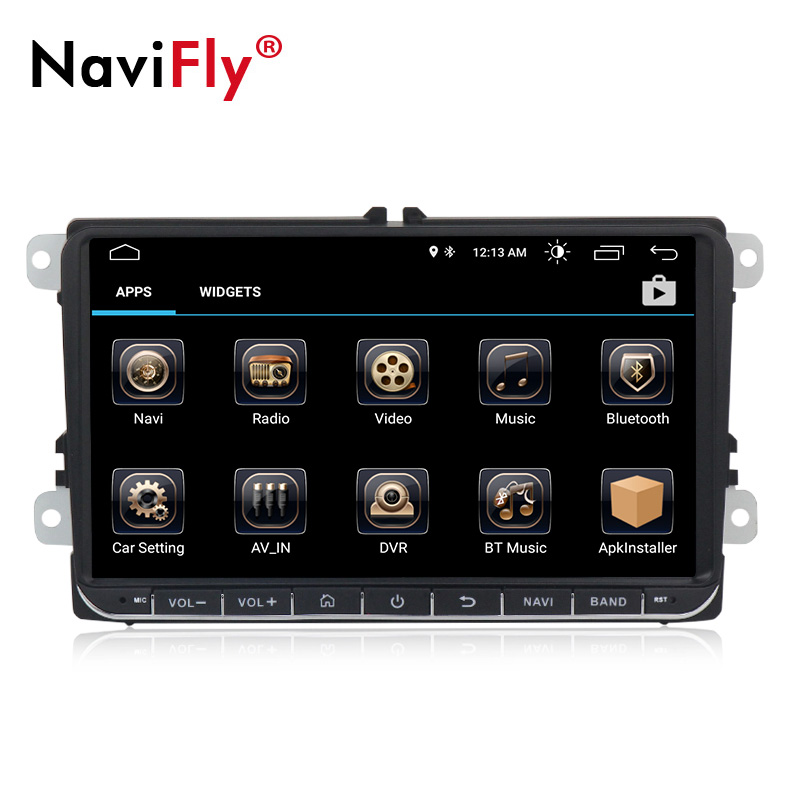 In Stock 9inch Android8.1 Car gps navigator for V-W Golf Polo  Passat Tiguan with radio 3G wifi BT TDA7851 Free mic