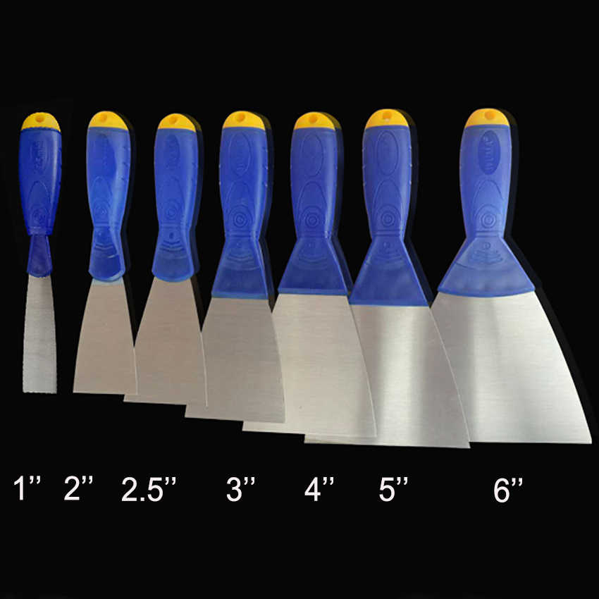 1 PC Putty Knife Scraper Blade Shovel Carbon Steel Plastic Handle Wall Plastering Knife Hand Tool Construction tools