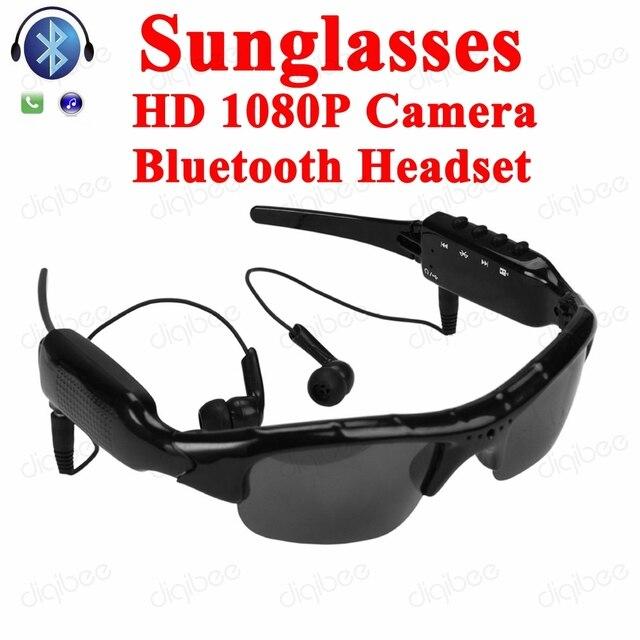 e5c3ece924 Cool Smart Glasses MP3 Stereo Bluetooth Headset HD 1080P Mini Camcorder  Sunglasses Camera DV DVR Digital Video Recorder Webcam
