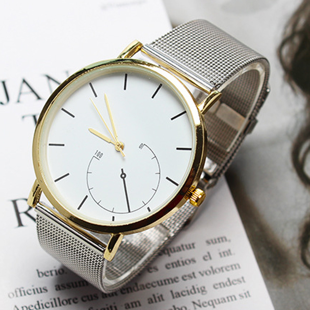 lover's watch men women new arrival top brand sports watch  Unisex Simple Business Fashion Steel Strip Quartz Wrist Watch  40y