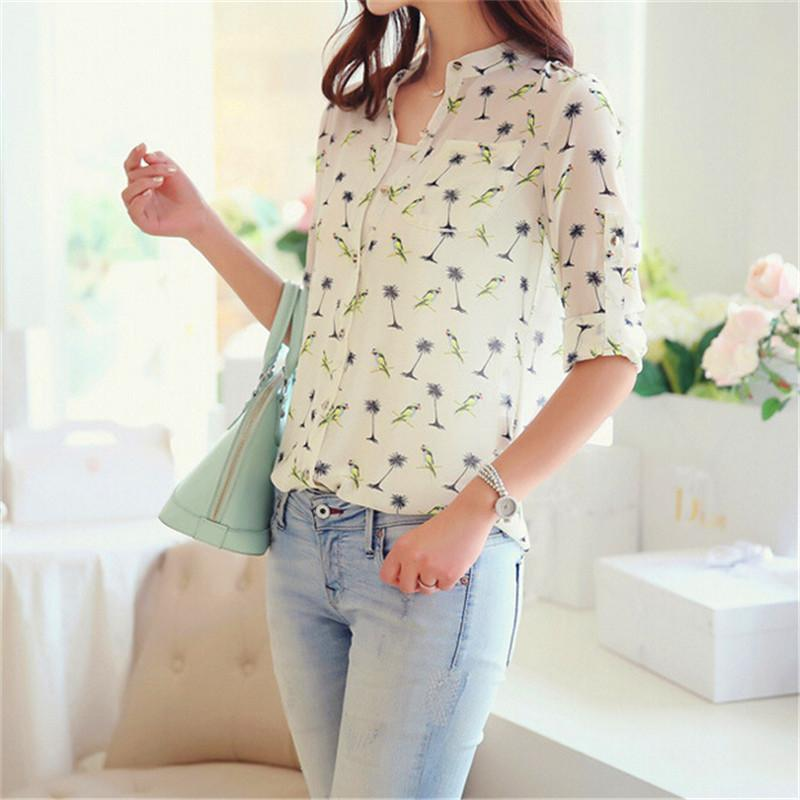 Popular Women Shirts Long Sleeve Floral-Buy Cheap Women Shirts ...