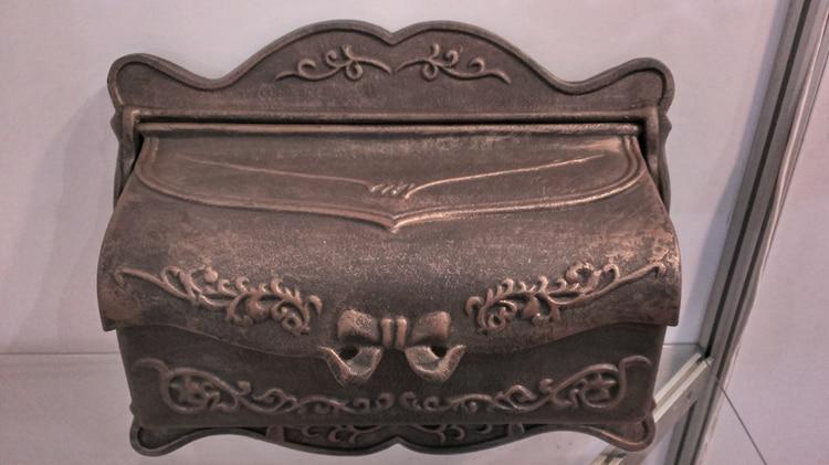 Բրոնզավորված չուգունի փոստարկղ Գարեջուր երկաթյա փոստով տուփ Նորաձևություն խաղողի բերք թիթեղով թերթի տուփ Թերթի տուփ ալյումին