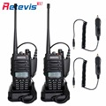 2X IP67 Waterproof Walkie-Talkie Retevis RT6 Amateur Radio+2X Car Charge Cable 5W/3W/1W VHF/UHF Portable 2 Way Radio Transceiver