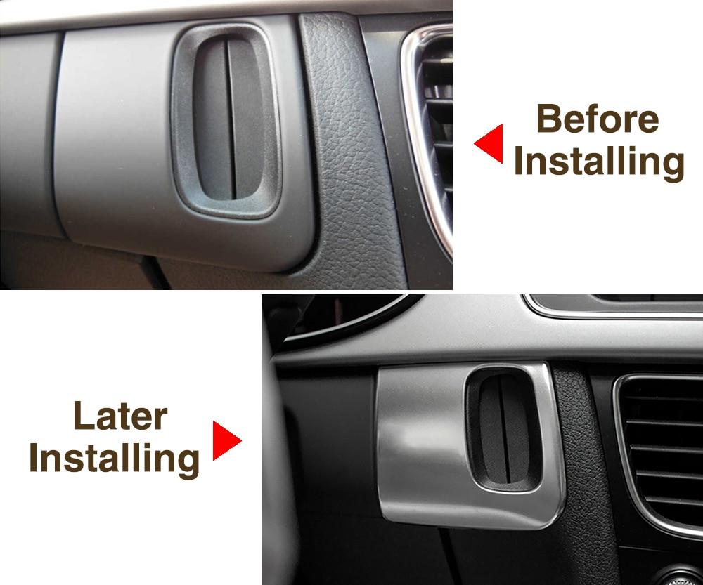 SS Steel Interior Ignition keyholde Emblem Stiker Badge S line RS For Audi A4 A5