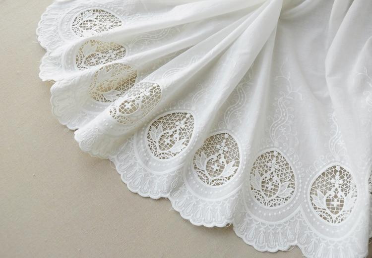 Tela de encaje de algodón con estampado floral - Artes, artesanía y costura