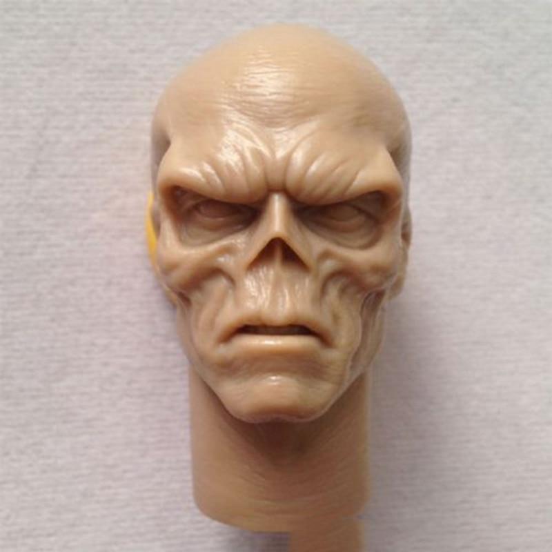 1/6 Scale Red Skull Smith Hugo Vivian Unpainted Male Head Sculpt For 12 Men Figures Bodies