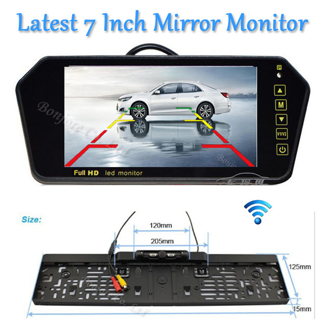 Aliexpress Com Buy Parking Wireless Hd 7 Quot Lcd Car Mirror
