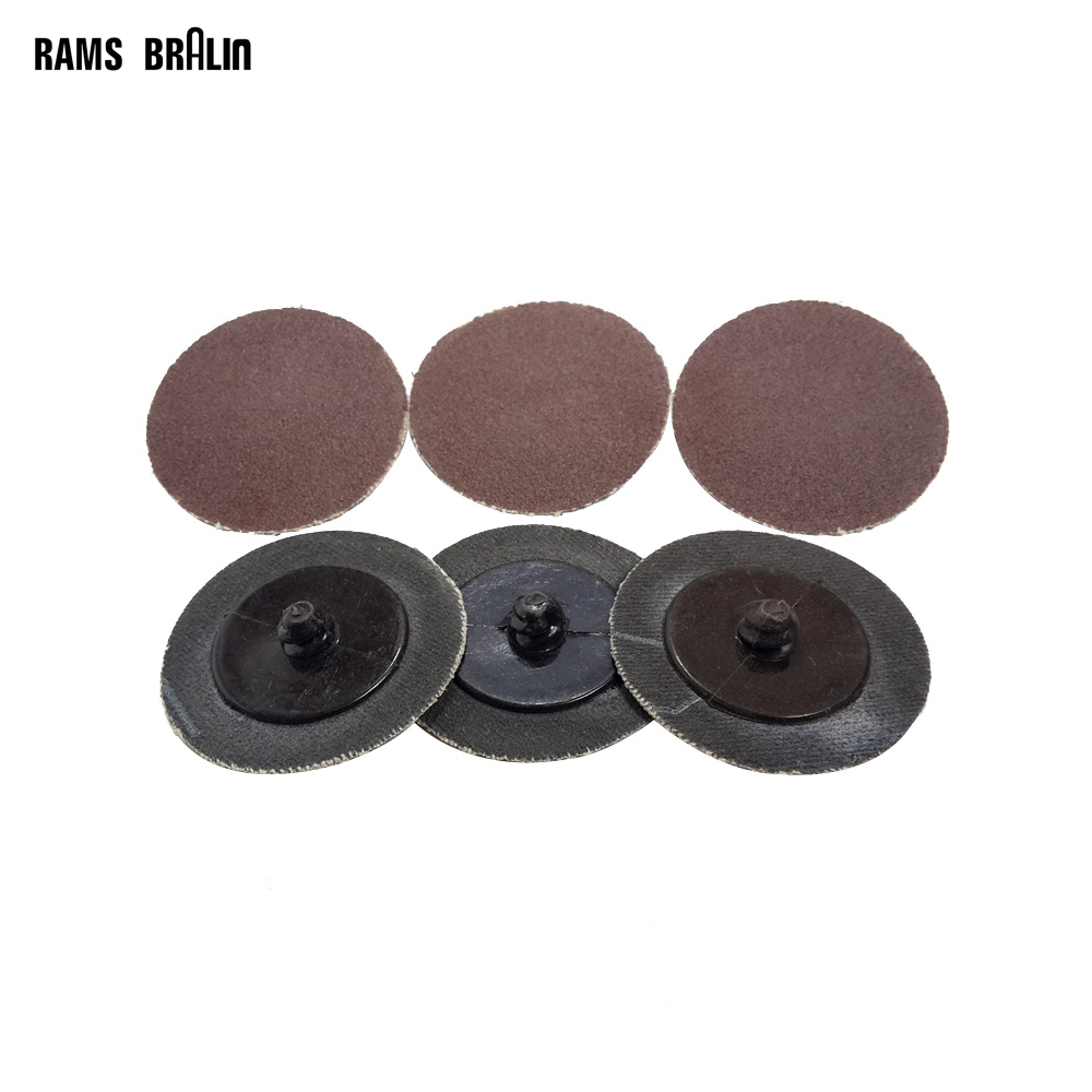 100 pieces 2 A/O Roloc Sanding Disc Automobile Refinish Deburring Finishing Quick Change Disc Drill Tool