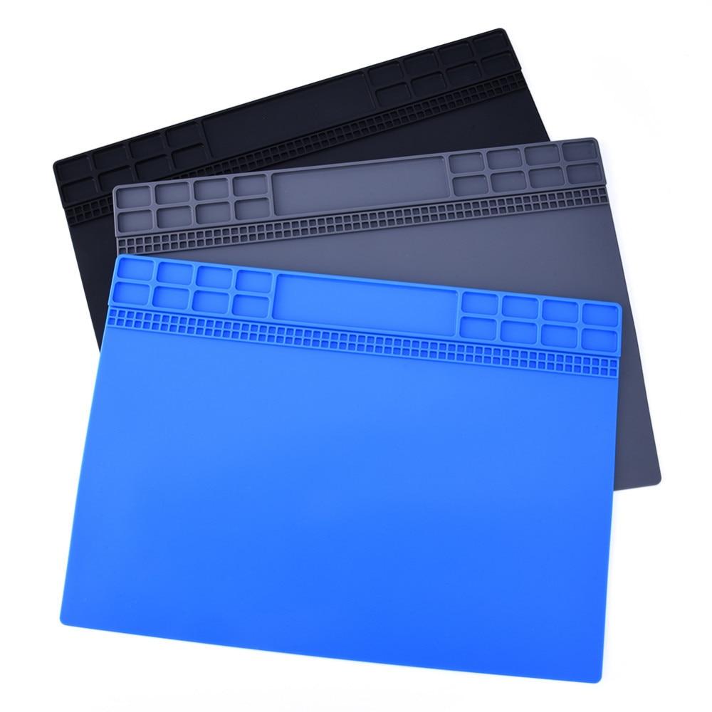 Plataforma de manutenção da esteira da mesa da almofada do silicone da isolação térmica para a estação de reparo de solda bga ferramentas de reparo cinza/preto/darkblue