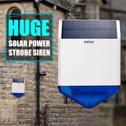 Originele CORINA wireless outdoor Solar sirene panel KR-SJ1 Voor CORINA Alarmsysteem beveiliging met knippert reactie geluid