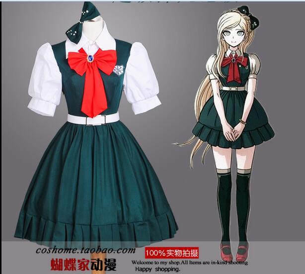 Cheap Japanese Anime Super Danganronpa 2 Sonia Nevermind Cosplay Costumes Sayonara Zetsubo Gakuen School Uniform