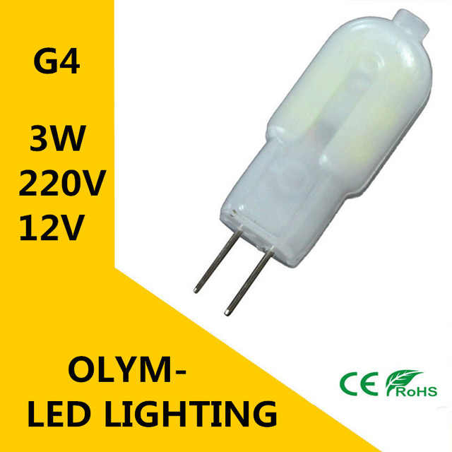 new high quality 220V 12V G4 3W light mahogany SMD Super bright bulb replace lamp halogen light-emitting diode