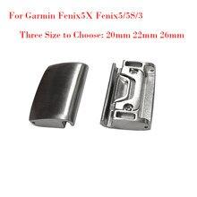 20 22 26MM genérico de Metal adaptador de correa del reloj para Garmin Fenix5X/Fenix5/5S/3 todos los modelos para QuickFit fácil ajuste hebilla de conexión