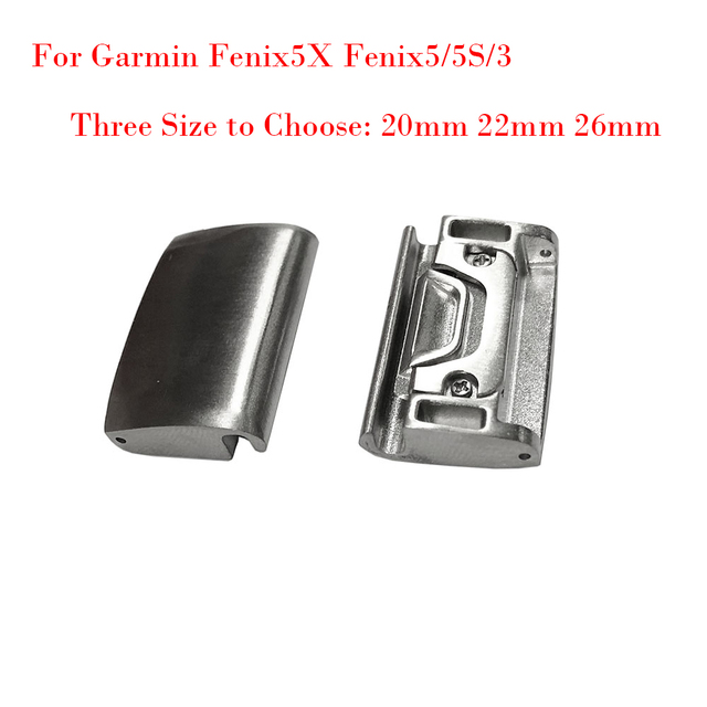 US $5 99 |20 22 26MM Generic Metal Watch Band Adapter for Garmin  Fenix5X/Fenix5/5S/3 All models For QuickFit Easy Fit Buckle Connection -in  Watchbands