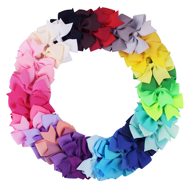 Candygirl 40 Colors Boutique Hair Bows with Clips Barrette for Kids Girls Headwear Styling Accessories