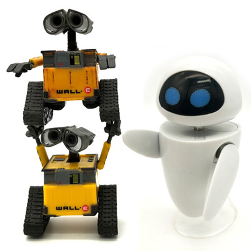 2018 New Arrival Wall-E Robot Wall E & EVE PVC Action Figure Collection Model Toys Dolls  WITH BOX