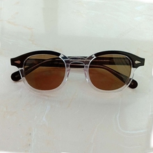 Top quality Johnny Depp Glasses Polarized Sun Glasses Men Woman Brand Designer UV400 Driving Shades Acetate Glasses Frame SQ083 цена и фото